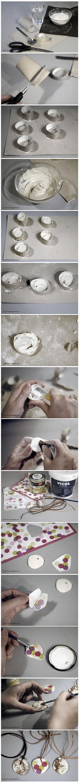 Jak zrobić wisiorek z gipsu i serwetki - DIY