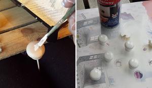 KROK I - Malownie gałek meblowych